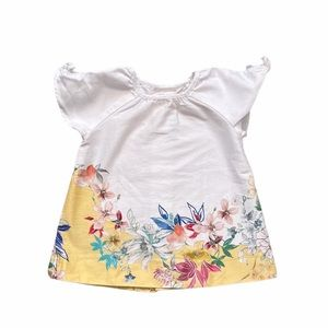Zara floral and white dress 6-9 Months
